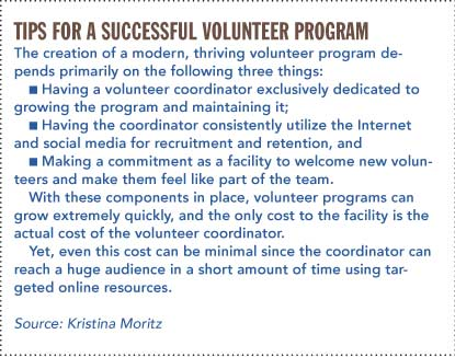 Tips for a successful volunteer program